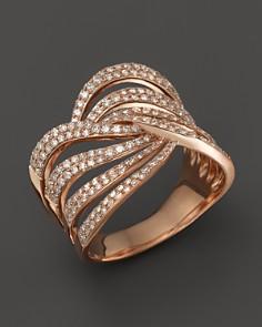 Diamond Multirow Twist Ring in 14K Rose Gold, .70 ct. t.w. - 100% Exclusive - Bloomingdale's_0