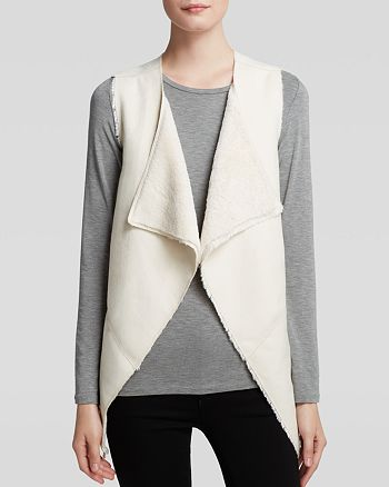 GUESS - Draped Faux Sherpa Vest