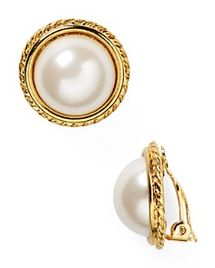 Carolee Rope Imitation-Pearl Clip On Earrings - Bloomingdale's_0