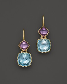Amethyst and Blue Topaz Drop Earrings in 14K Yellow Gold - 100% Exclusive - Bloomingdale's_0