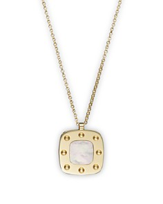 Roberto Coin - Roberto Coin 18K Yellow Gold and Mother-of-Pearl Pois Moi Pendant Necklace, 17""