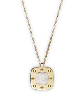 """Roberto Coin - Roberto Coin 18K Yellow Gold and Mother-of-Pearl Pois Moi Pendant Necklace, 17"""""""