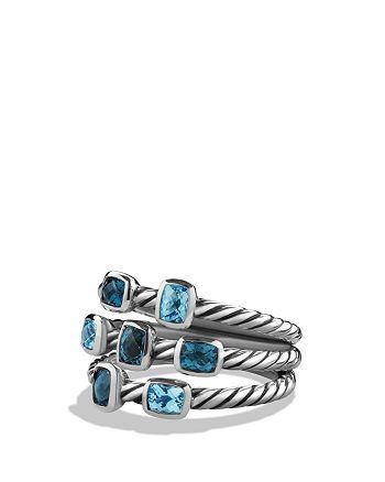 David Yurman - Confetti Ring with Blue Topaz and Hampton Blue Topaz