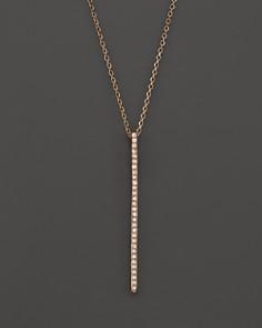 KC Designs - Diamond Stick Pendant Necklace in 14K Rose Gold, .10 ct. t.w.