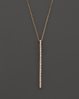 Click here for Kc Designs Diamond Stick Pendant Necklace in 14K R... prices
