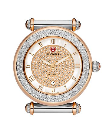0d6af8d59 MICHELE - Caber Diamond Two Tone Pavé Dial Watch Head ...