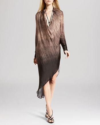 751ce2808900 HALSTON HERITAGE - Dress - V-Neck Asymmetric Hem