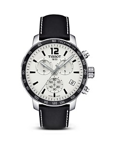 Tissot Quickster Men's Quartz Chronograph Black and Silver Dial Watch, 42mm - Bloomingdale's_0