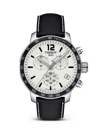 Tissot - Quickster Men's Quartz Chronograph Black and Silver Dial Watch, 42mm