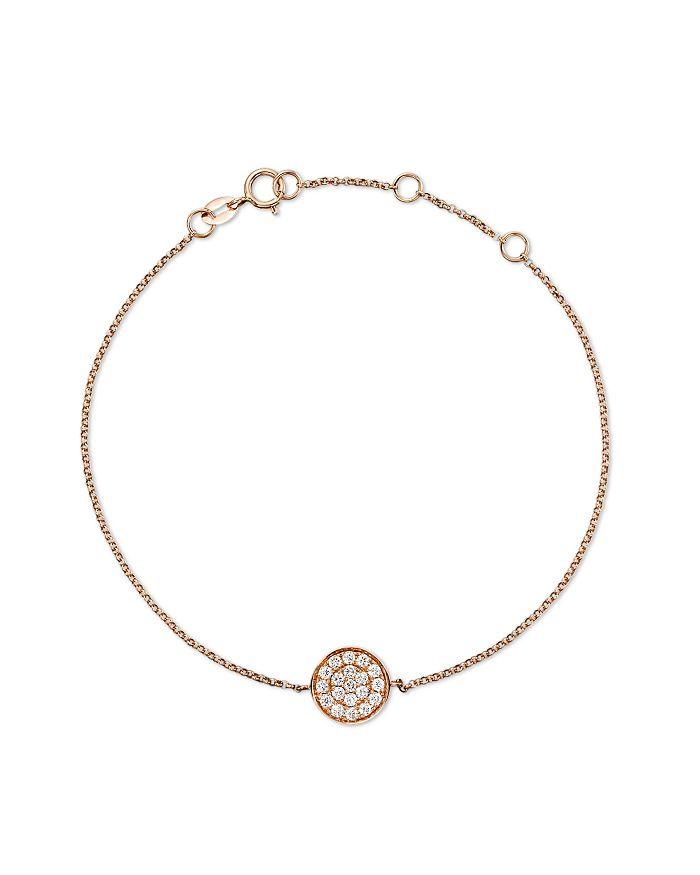Bloomingdale's - Diamond Disc Bracelet in 14K Rose Gold, .25 ct. t.w.- 100% Exclusive
