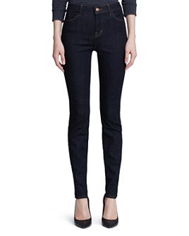 J Brand - Maria High-Rise Skinny Jeans in Afterdark