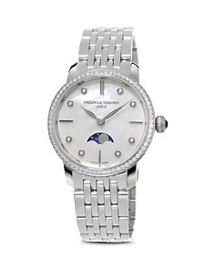 Frederique Constant Slimline Moonphase Stainless Steel Watch with Mother of Pearl Dial, 30mm - Bloomingdale's_0