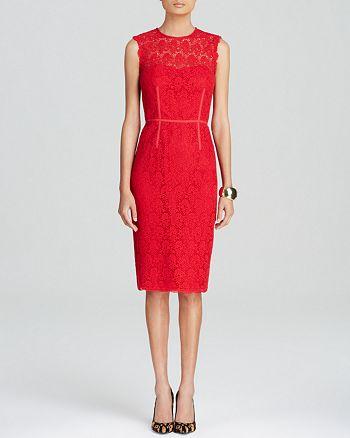 Jill Jill Stuart - Dress - Sleeveless Lace Sheath