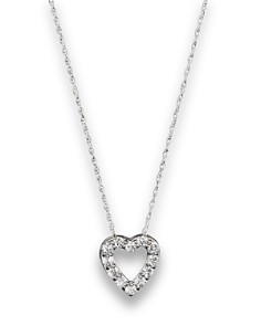 Diamond heart pendant bloomingdales diamond heart pendant necklace in 14k white gold 25 ct tw bloomingdale aloadofball Choice Image
