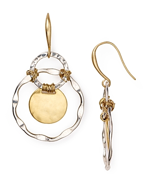Robert Lee Morris Soho Two Tone Orbital Earrings