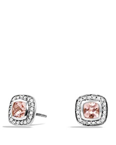 David Yurman - Petite Albion Earrings with Morganite and Diamonds