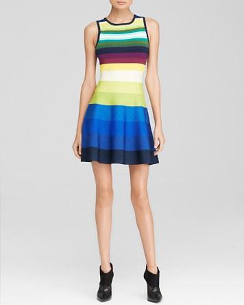 $KAREN MILLEN Rainbow Stripe Knit Dress - 100% Exclusive - Bloomingdale's