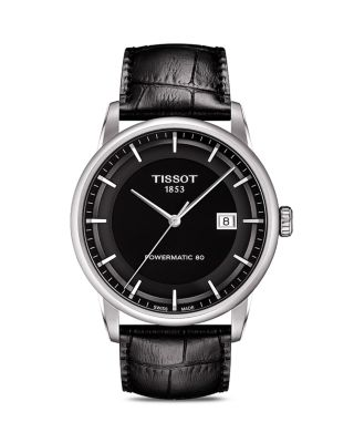 LUXURY GTS AUTOMATIC LEATHER STRAP WATCH, 41MM