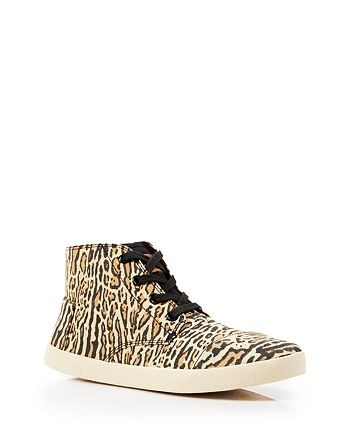 TOMS - Leopard Print High Top Sneakers - Paseo Highs
