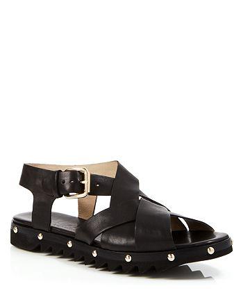 350dbe01e88 AGL Attilio Giusti Leombruni - Women s Flat Sandals - Studded