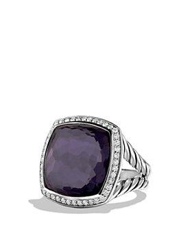 David Yurman - Albion Ring in Sterling Silver with Gemstones & Diamonds, 17mm