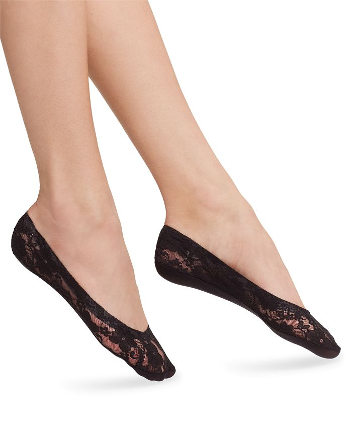 HUE - Lace Perfect Edge Liner Socks