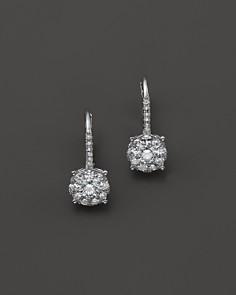 Bloomingdale S Diamond Cer Drop Earrings In 14k White Gold 85 1 0 Ct