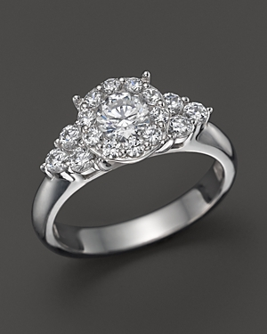 Click here for Diamond Round Cut Engagement Ring with Side Cluste... prices
