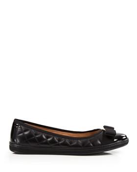 Salvatore Ferragamo - Women's Rufina Quilted Cap Toe Leather Sneaker Flats