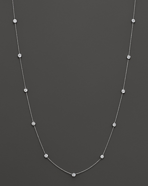 Click here for Diamond Station Necklace in 14K White Gold  1.0 ct... prices