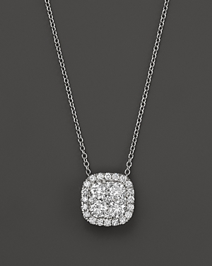 Bloomingdale's DIAMOND CLUSTER PENDANT NECKLACE IN 14K WHITE GOLD, 2.0 CT. T.W. - 100% EXCLUSIVE