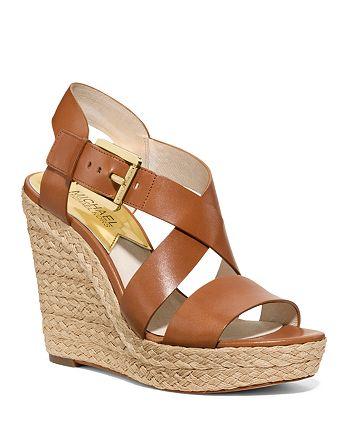 MICHAEL Michael Kors - Open Toe Platform Wedge Espadrille Sandals - Giovanna