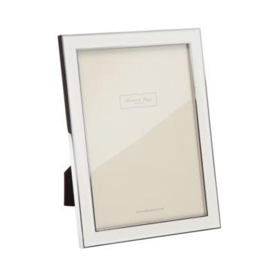 "White Enamel Frame, 4 X 6"" by Addison Ross"