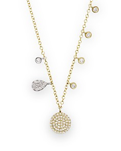 """Meira T 14K Yellow Gold Disc Necklace with Diamonds, 16"""" - Bloomingdale's_0"""