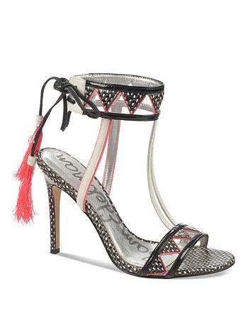 Sam Edelman - High-Heel Sandals - Sadie Patterned Feather