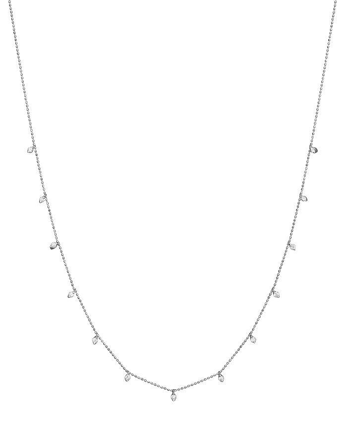 Bloomingdale's - Diamond Station Necklace in 14K White Gold, .50 ct. t.w.- 100% Exclusive