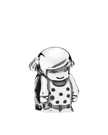 PANDORA - Charm - Sterling Silver Precious Girl