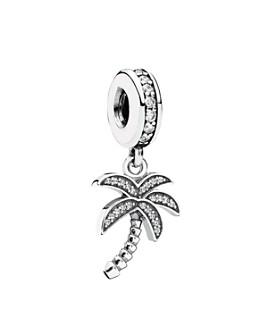 Pandora -  Sterling Silver & Cubic Zirconia Sparkling Palm Tree Dangle Charm