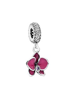 PANDORA Moments Collection Sterling Silver, Cubic Zirconia & Enamel Orchid Dangle Charm - Bloomingdale's_0