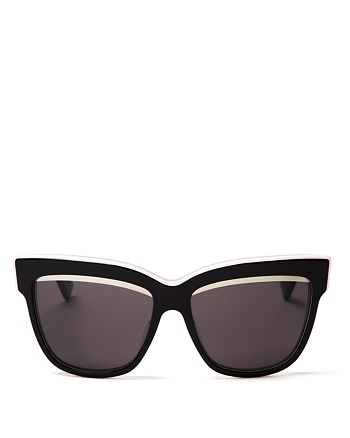 Dior - Women's Graphic Cat Eye Sunglasses, 55mm