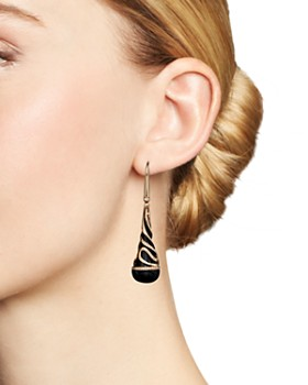 Bloomingdale's - Diamond and Black Onyx Drop Earrings in 14K Rose Gold, .35 ct. t.w. - 100% Exclusive