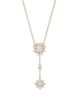 Bloomingdale's - Diamond Starburst Drop Pendant Necklace in 14K Yellow Gold, .40 ct. t.w. - 100% Exclusive