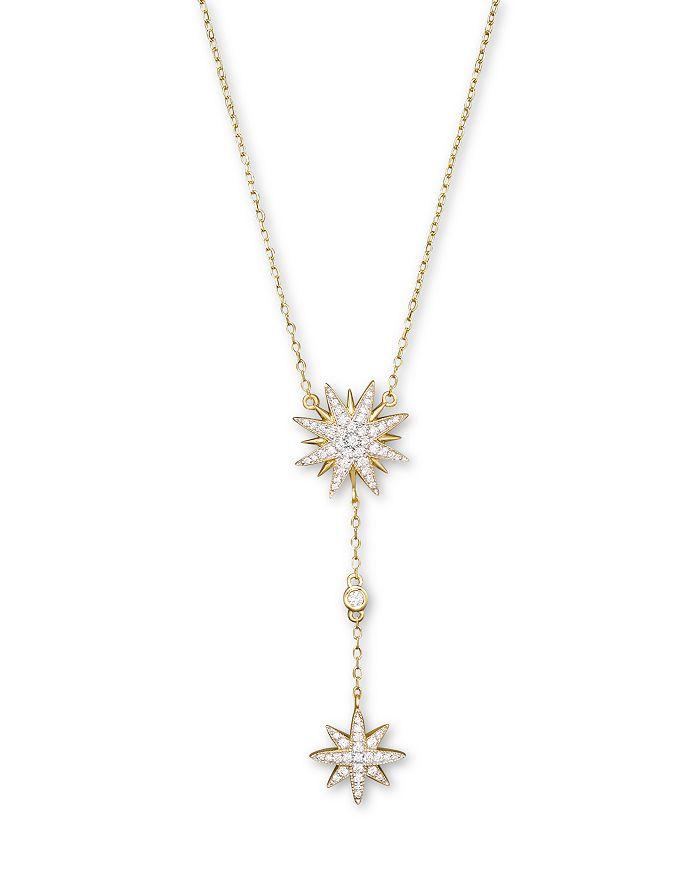 Bloomingdale's - Diamond Starburst Drop Pendant Necklace in 14K Yellow Gold, .40 ct. t.w.- 100% Exclusive