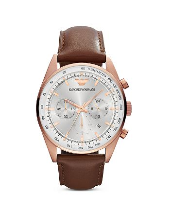 Emporio Armani - Round Chronograph Watch, 43mm
