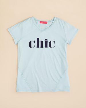 me.n.u. Girls' Chic Mixed Media Tee - Big Kid