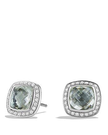 David Yurman - Albion Earrings with Prasiolite and Diamonds
