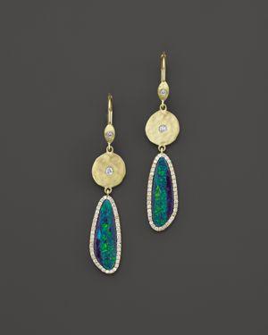 Meira T 14K Yellow Gold Opal Elongated Earrings