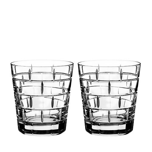 Rogaska - Quoin Double Old-Fashioned Glass, Set of 2