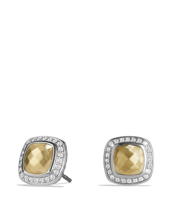 David Yurman - Albion Earring with 18K Gold Dome and Diamonds
