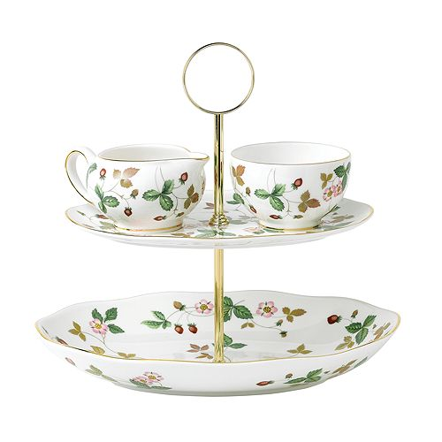 Wedgwood - Wild Strawberry Two-Tiered Cake Stand